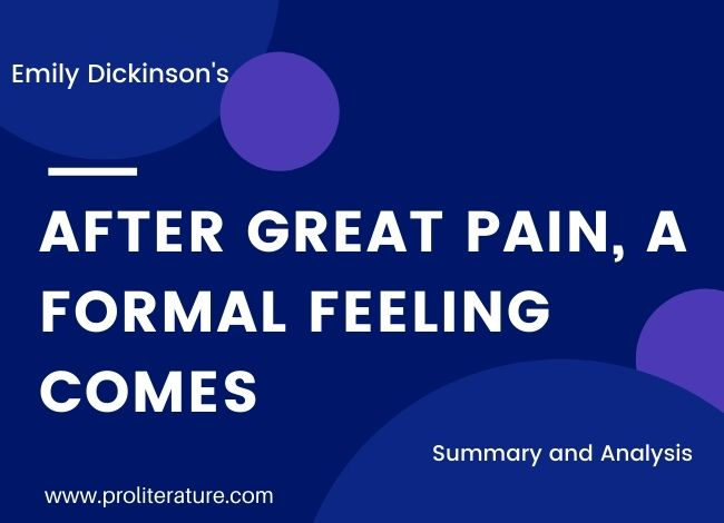 Dickinson's After Great Pain a Formal Feeling Comes Summary and Analysis