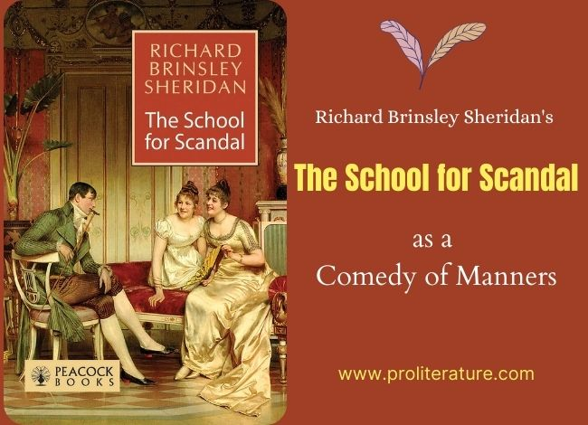 The School for Scandal as a Comedy of Manners